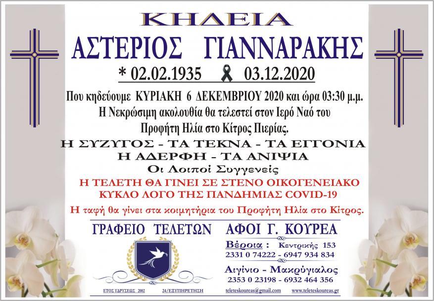 Κηδεία Αστέριος Γιανναράκης