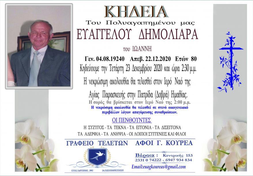 Κηδεία Ευάγγελος Δημολιάρας