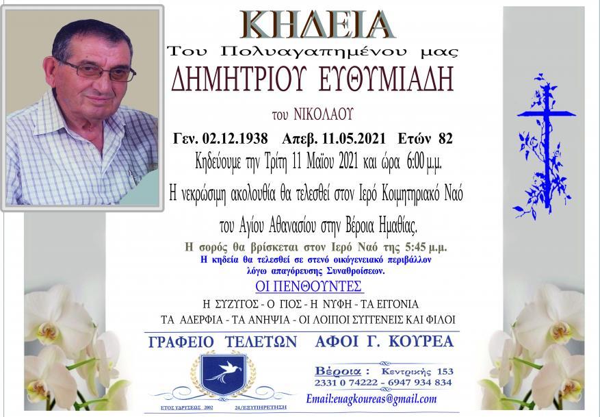 Κηδεία Δημητρίου Ευθυμιάδη