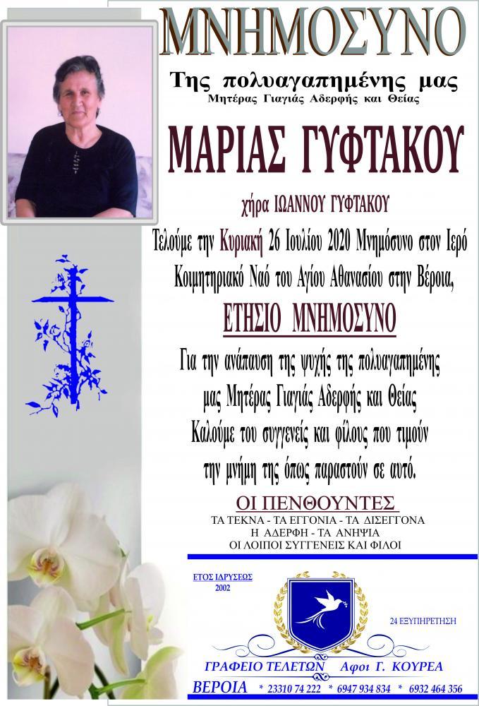 Μνημόσυνο Μαρίας Γυφτάκου